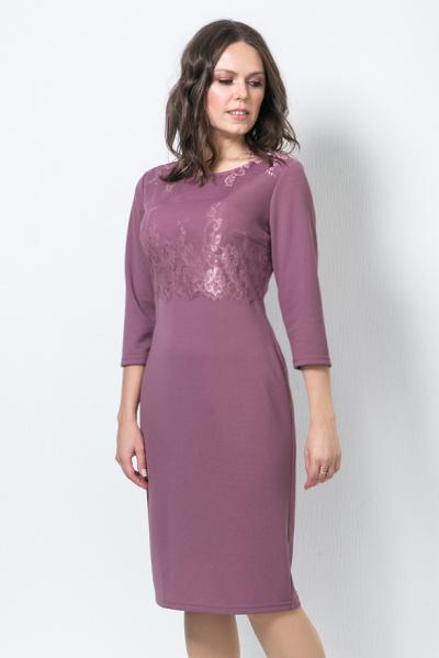 Платье с кружевом, П-561